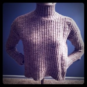 Express turtle neck cable knit sweater